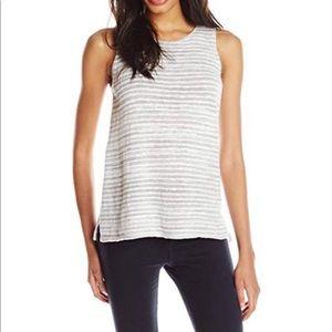 Lucky Brand Stripe Gray Sweater Tank Top   S